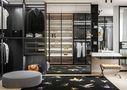 140平米三室两厅英伦风格衣帽间装修案例