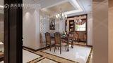 5-10万110平米三室两厅欧式风格餐厅图片大全