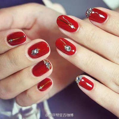 红色妖姬美甲款式图