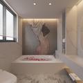 140平米四室两厅英伦风格卫生间图片