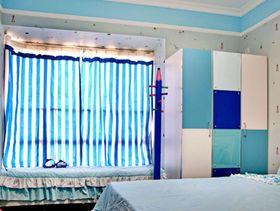 富裕型120平米三室一廳地中海風格臥室裝修效果圖