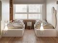 120平米三室一厅日式风格儿童房效果图