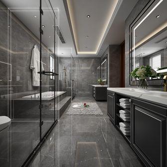 140平米别墅英伦风格卫生间图片