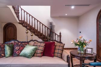 140平米三室两厅美式风格楼梯间欣赏图