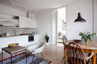 80平米一室一厅田园风格厨房效果图