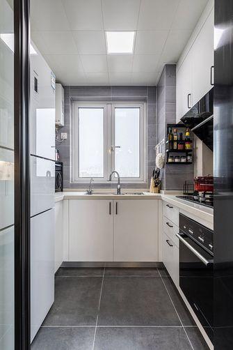 富裕型80平米三室两厅北欧风格厨房效果图
