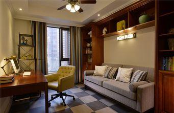 120平米三室三厅美式风格书房效果图