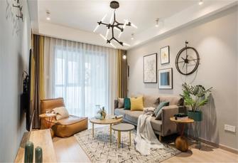80平米田园风格客厅装修案例