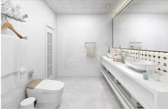 130平米一居室美式风格卫生间设计图