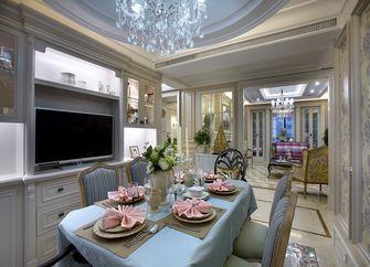 140平米三室两厅田园风格餐厅欣赏图