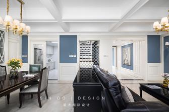 140平米复式美式风格餐厅设计图