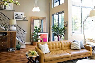 90平米复式混搭风格客厅图片