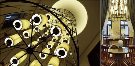 20万以上140平米复式中式风格楼梯欣赏图