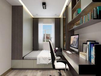 100平米三室一厅混搭风格书房图片