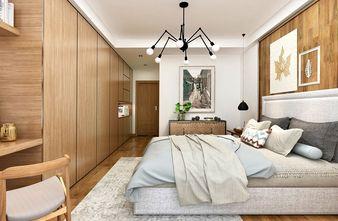 120平米三室一厅北欧风格卧室装修效果图