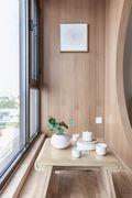 80平米日式风格阳台效果图