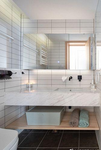 80平米三室两厅日式风格卫生间装修图片大全