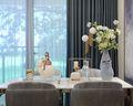 140平米三室五厅现代简约风格餐厅设计图