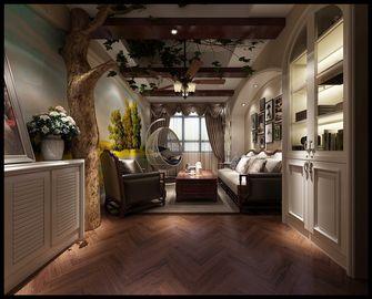 140平米四室两厅田园风格卧室图片大全