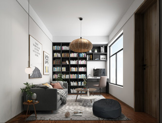130平米三室两厅田园风格书房图片大全