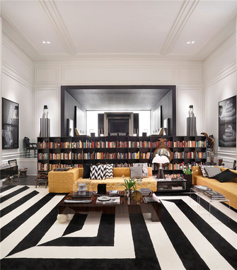 120平米三室一厅英伦风格楼梯间设计图