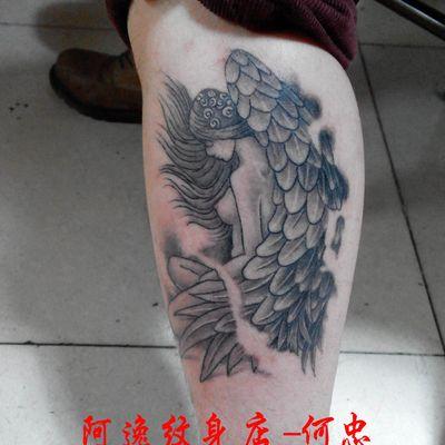 成都 ,天使纹身图