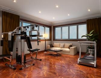 140平米复式法式风格健身室装修图片大全