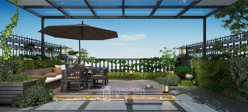 140平米别墅现代简约风格阳光房效果图