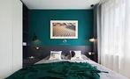 70平米三室一厅混搭风格卧室图片大全