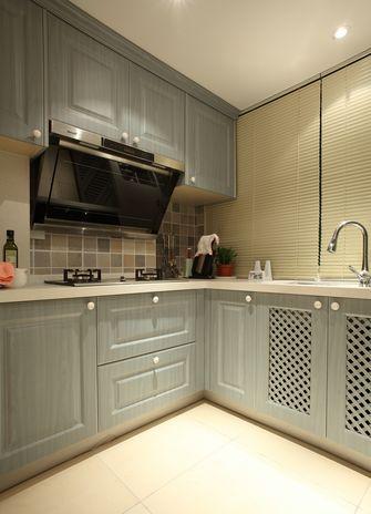 120平米三室三厅田园风格厨房装修图片大全