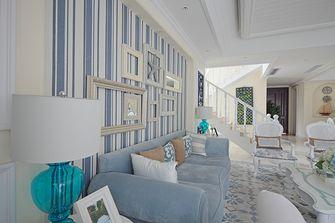 60平米复式地中海风格客厅图