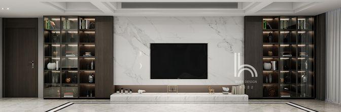 140平米三现代简约风格客厅效果图