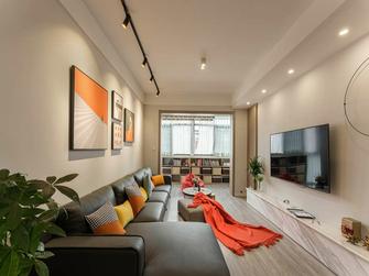 80平米三室两厅宜家风格客厅装修效果图