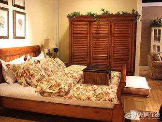 富裕型140平米三室一厅田园风格衣帽间装修效果图