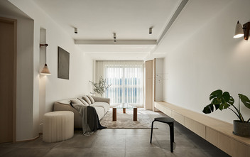 80平米三日式风格客厅设计图