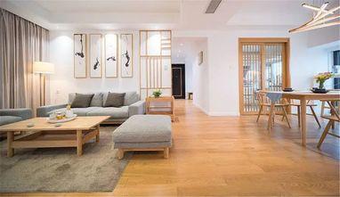 130平米三室两厅日式风格客厅装修案例