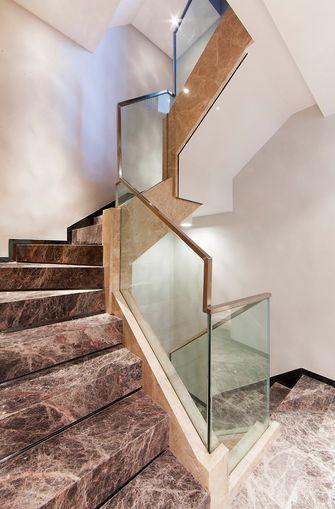 10-15万140平米三室两厅现代简约风格楼梯装修案例