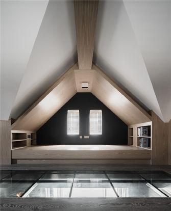 80平米一居室现代简约风格阁楼设计图