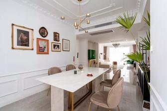 120平米三室两厅法式风格餐厅装修图片大全