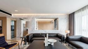 140平米四現代簡約風格客廳圖片