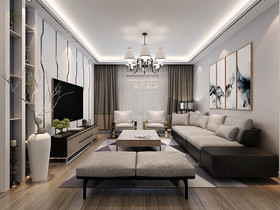 130平米四室两厅现代简约风格梳妆台家具装修效果图