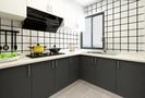 80平米一居室北欧风格厨房图