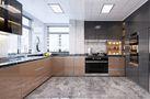 140平米三室两厅田园风格厨房设计图
