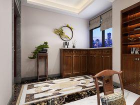 120平米三室兩廳中式風格玄關圖片