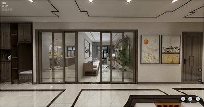 110平米四室两厅中式风格客厅装修案例