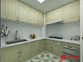90平米三室一厅田园风格厨房图片大全