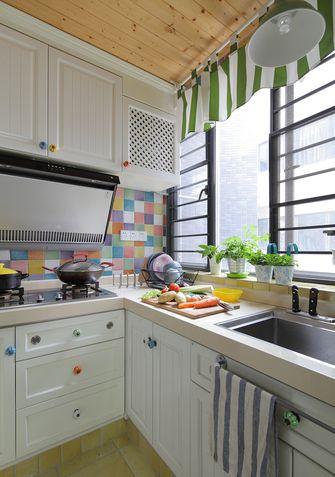 100平米三室一厅田园风格厨房图