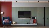 60平米混搭风格客厅设计图