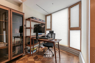 90平米混搭风格书房欣赏图