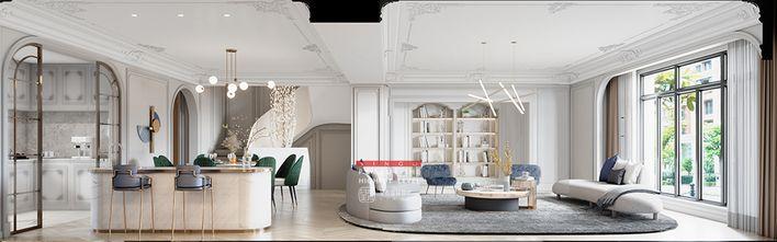 20万以上140平米别墅现代简约风格客厅图
